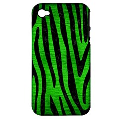 Skin4 Black Marble & Green Brushed Metal Apple Iphone 4/4s Hardshell Case (pc+silicone)