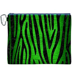 Skin4 Black Marble & Green Brushed Metal Canvas Cosmetic Bag (xxxl)