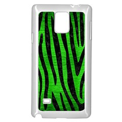 Skin4 Black Marble & Green Brushed Metal Samsung Galaxy Note 4 Case (white)
