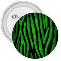 Skin4 Black Marble & Green Brushed Metal (r) 3  Buttons