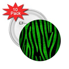 Skin4 Black Marble & Green Brushed Metal (r) 2 25  Buttons (10 Pack)
