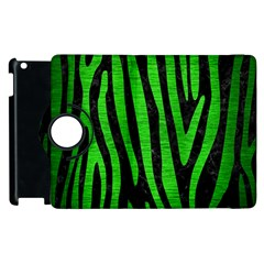 Skin4 Black Marble & Green Brushed Metal (r) Apple Ipad 3/4 Flip 360 Case