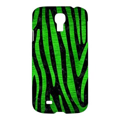 Skin4 Black Marble & Green Brushed Metal (r) Samsung Galaxy S4 I9500/i9505 Hardshell Case