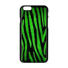Skin4 Black Marble & Green Brushed Metal (r) Apple Iphone 6/6s Black Enamel Case