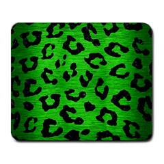 Skin5 Black Marble & Green Brushed Metal Large Mousepads