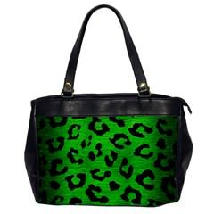 Skin5 Black Marble & Green Brushed Metal Office Handbags