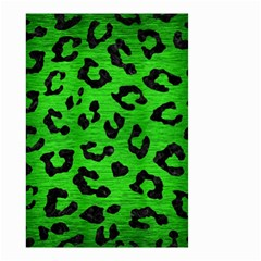 Skin5 Black Marble & Green Brushed Metal Small Garden Flag (two Sides)