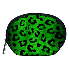 Skin5 Black Marble & Green Brushed Metal Accessory Pouches (medium)