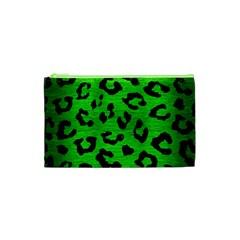 Skin5 Black Marble & Green Brushed Metal Cosmetic Bag (xs)
