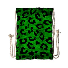 Skin5 Black Marble & Green Brushed Metal Drawstring Bag (small)