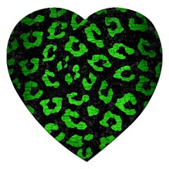 Skin5 Black Marble & Green Brushed Metal (r) Jigsaw Puzzle (heart)