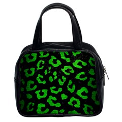 Skin5 Black Marble & Green Brushed Metal (r) Classic Handbags (2 Sides)