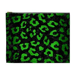 Skin5 Black Marble & Green Brushed Metal (r) Cosmetic Bag (xl)