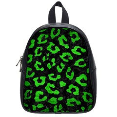 Skin5 Black Marble & Green Brushed Metal (r) School Bag (small)