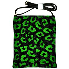 Skin5 Black Marble & Green Brushed Metal (r) Shoulder Sling Bags