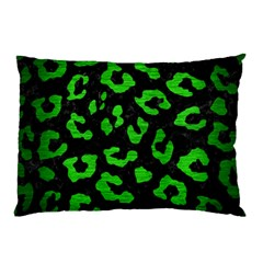 Skin5 Black Marble & Green Brushed Metal (r) Pillow Case (two Sides)