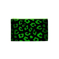 Skin5 Black Marble & Green Brushed Metal (r) Cosmetic Bag (xs)