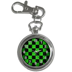 Square1 Black Marble & Green Brushed Metal Key Chain Watches