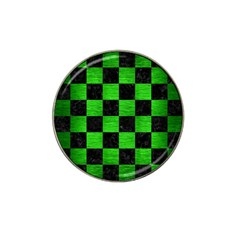 Square1 Black Marble & Green Brushed Metal Hat Clip Ball Marker (4 Pack)