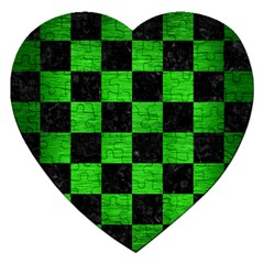 Square1 Black Marble & Green Brushed Metal Jigsaw Puzzle (heart)
