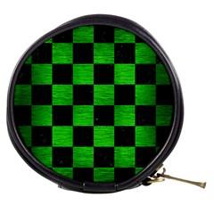 Square1 Black Marble & Green Brushed Metal Mini Makeup Bags