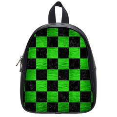 Square1 Black Marble & Green Brushed Metal School Bag (small)