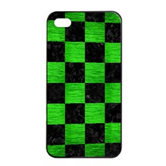 Square1 Black Marble & Green Brushed Metal Apple Iphone 4/4s Seamless Case (black)