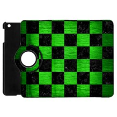 Square1 Black Marble & Green Brushed Metal Apple Ipad Mini Flip 360 Case