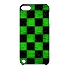 Square1 Black Marble & Green Brushed Metal Apple Ipod Touch 5 Hardshell Case With Stand