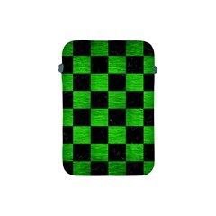Square1 Black Marble & Green Brushed Metal Apple Ipad Mini Protective Soft Cases