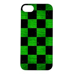 Square1 Black Marble & Green Brushed Metal Apple Iphone 5s/ Se Hardshell Case