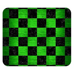 Square1 Black Marble & Green Brushed Metal Double Sided Flano Blanket (small)