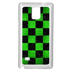 Square1 Black Marble & Green Brushed Metal Samsung Galaxy Note 4 Case (white)
