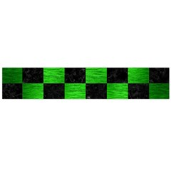 Square1 Black Marble & Green Brushed Metal Flano Scarf (large)