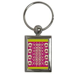 Going Gold Or Metal On Fern Pop Art Key Chains (rectangle)