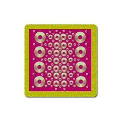 Going Gold Or Metal On Fern Pop Art Square Magnet