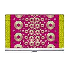 Going Gold Or Metal On Fern Pop Art Business Card Holders