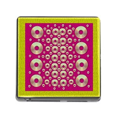 Going Gold Or Metal On Fern Pop Art Memory Card Reader (square)