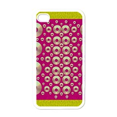 Going Gold Or Metal On Fern Pop Art Apple Iphone 4 Case (white)