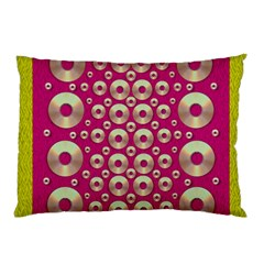Going Gold Or Metal On Fern Pop Art Pillow Case (two Sides)