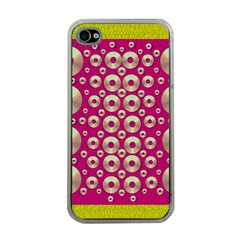 Going Gold Or Metal On Fern Pop Art Apple Iphone 4 Case (clear)