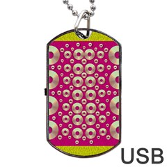 Going Gold Or Metal On Fern Pop Art Dog Tag Usb Flash (one Side)