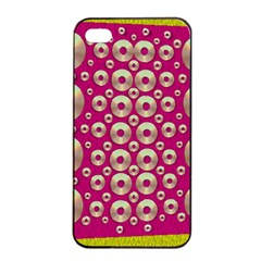 Going Gold Or Metal On Fern Pop Art Apple Iphone 4/4s Seamless Case (black)