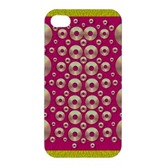 Going Gold Or Metal On Fern Pop Art Apple Iphone 4/4s Hardshell Case