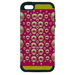 Going Gold Or Metal On Fern Pop Art Apple Iphone 5 Hardshell Case (pc+silicone)