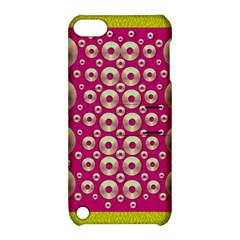 Going Gold Or Metal On Fern Pop Art Apple Ipod Touch 5 Hardshell Case With Stand