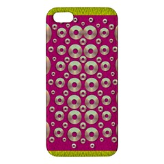 Going Gold Or Metal On Fern Pop Art Apple Iphone 5 Premium Hardshell Case