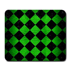Square2 Black Marble & Green Brushed Metal Large Mousepads