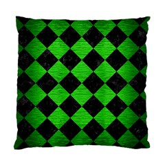 Square2 Black Marble & Green Brushed Metal Standard Cushion Case (one Side)