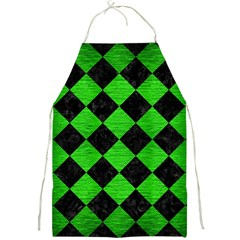 Square2 Black Marble & Green Brushed Metal Full Print Aprons